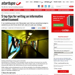 5 top tips for writing an informative advertisement