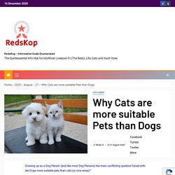 Why Cats are more suitable Pets than Dogs