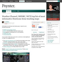 Weather Channel, MSNBC, WCTI top list of most informative Hurricane Irene tracking maps