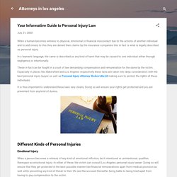 Your Informative Guide to Personal Injury Law