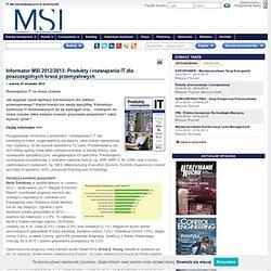 Informator 12/13: Produkty IT dla branż przemysłowych