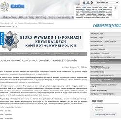 """Ochrona informatyczna danych –""""phishing"""" i kradzież tożsamości - Cyberprzestępczość - Policja.pl"""