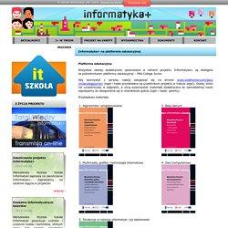 Informatyka + Informatyka+ na platformie edukacyjnej