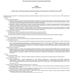 Ustawa z dnia 12 lutego 2010 r. o zmianie ustawy o informatyzacji działalności podmiotów realizujących zadania publiczne oraz niektórych innych ustaw