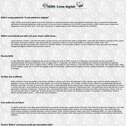 ISDN: informazioni e domande frequenti