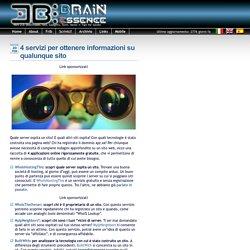 4 servizi per ottenere informazioni su qualunque sito