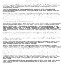 Informe del Diálogo para la Paz, 23 de febrero de 1994