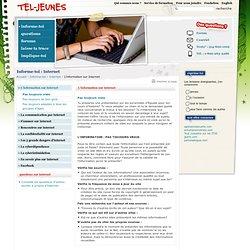 Informe-toi / Internet / L'information sur Internet