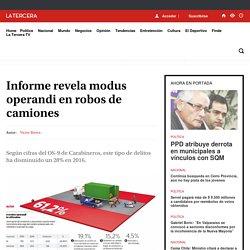 Informe revela modus operandi en robos de camiones - LA TERCERA
