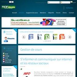 S'informer et communiquer sur internet et les réseaux sociaux