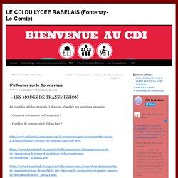 LE CDI DU LYCEE RABELAIS (Fontenay-Le-Comte)