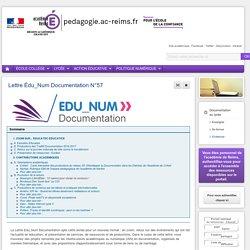 S'informer Documentation lycée - Lettre Édu_Num Documentation N°57
