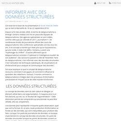 Informer avec des données structurées - Nicolas Kayser-Bril
