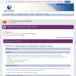 Administration des ventes (ROME : M1701)