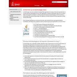 S'informer sur la technologie Java