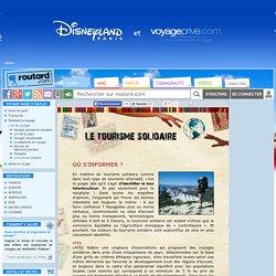 Où s'informer ? : Le tourisme solidaire : Dossier pratique de voyage