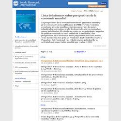 Lista de informes sobre perspectivas de la economía mundial