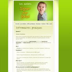 Infos pratiques - Signes Bébés
