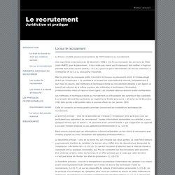 Infos recrutement : lois sur le recrutement