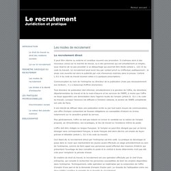 Infos recrutement : les modes de recrutement