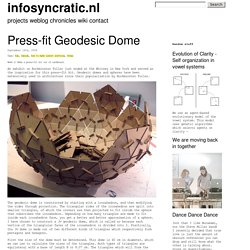 infosyncratic.nl » Blog Archive » Press-fit Geodesic Dome