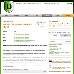 Website Design Sigma InfoTech Pty Ltd