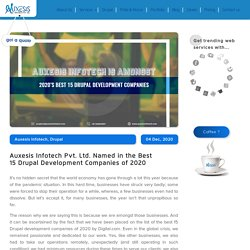 Auxesis Infotech Pvt. Ltd. Named in the Best 15 Drupal Development Companies of 2020