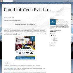 Cloud InfoTech Pvt. Ltd.: Remote Solutions for Education