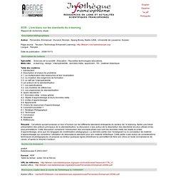 Livre blanc sur les standards du e-learning