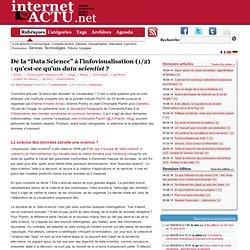 """De la """"Data Science"""" à l'infovisualisation (1/2) : qu'est-ce qu'un data scientist"""