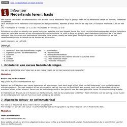 Infowijzer : Nederlands leren: basis