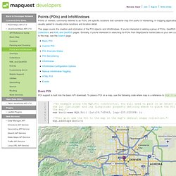POIs & InfoWindows: JavaScript Maps API Developer's Guide