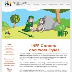 INFP Careers: Finding the right job fit