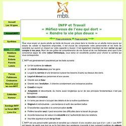 INFP et travail