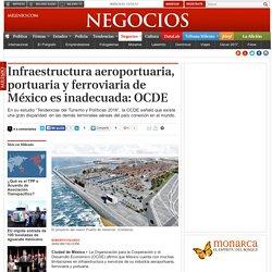 Infraestructura aeroportuaria, portuaria y ferroviaria de México es inadecuada: OCDE