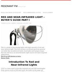 Near-Infrared Light - Buyer's Guide - Saunas & General Lighting
