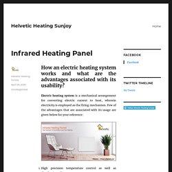 Infrared Heating Panel – Helvetic Heating Sunjoy