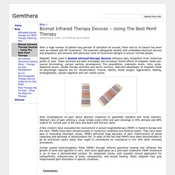 Biomat Infrared Therapy Devices – Using The Best Pemf Therapy - Gemthera