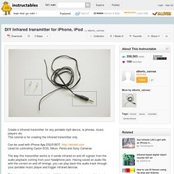 DIY Infrared transmitter for iPhone, iPod