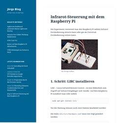 Infrarot-Steuerung mit dem Raspberry Pi – Jörgs Blog