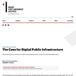 The Case for Digital Public Infrastructure