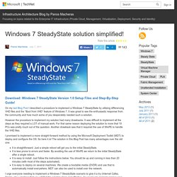 Windows 7 SteadyState solution simplified! – Infrastructure Architecture Blog by Panos Macheras