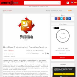 Benefits of IT Infrastructure Consulting Services