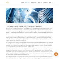 Critical Infrastructure Protection Program Support - MAX CYBERSECURITY National Security and Emergency Preparedness Professionals