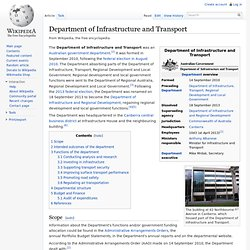 Department of Infrastructure and Transport