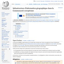 Infrastructure d'information géographique dans la Communauté européenne