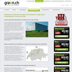 Serveurs Web sur l'infrastructure suisse d'informatique en nuage (cloud computing) la plus moderne