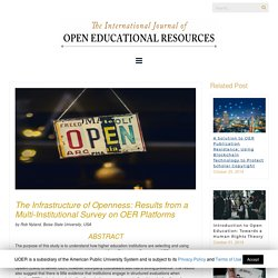 The Infrastructure of Openness: Results from a Multi-Institutional Survey on OER Platforms – International Journal of Open Educational Resources