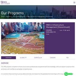 MBA in Infrastructure Management Courses in Noida - RICS SBE