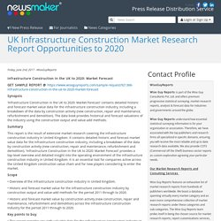 UK Infrastructure Construction Market Research Report Opportunities to 2020